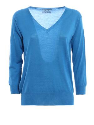Prada: v necks - Fine virgin wool sweater