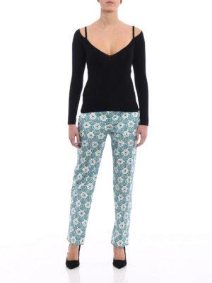Prada: v necks online - Cashmere and silk slim V-neck