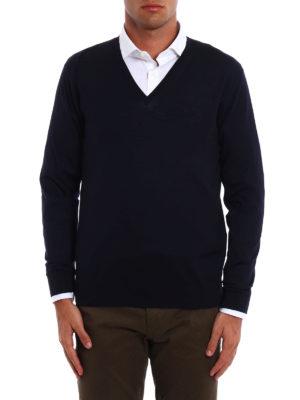 Prada: v necks online - Combed wool V-neck pullover