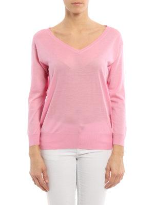 Prada: v necks online - Fine virgin wool sweater