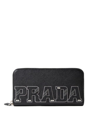 Prada: wallets & purses - Character zip around wallet
