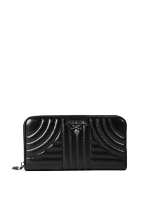 Prada: wallets & purses - Diagramme zip around wallet