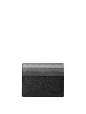 Prada: wallets & purses - Fading black saffiano card holder