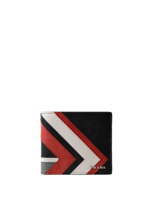Prada: wallets & purses - Geometric pattern saffiano wallet