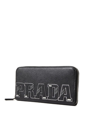 Prada: wallets & purses online - Character zip around wallet