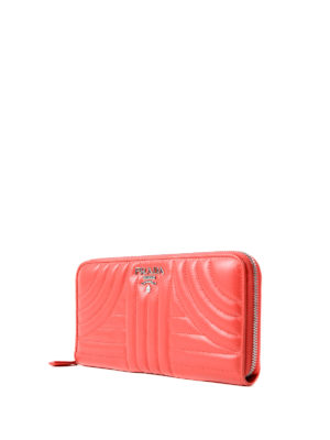 Prada: wallets & purses online - Diagramme red zip around wallet