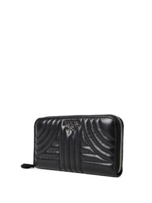 Prada: wallets & purses online - Diagramme zip around wallet