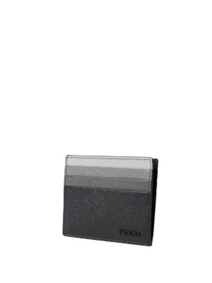 Prada: wallets & purses online - Fading black saffiano card holder