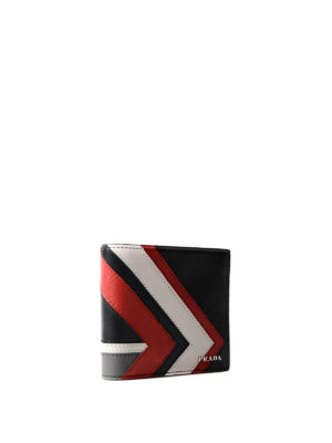 Prada: wallets & purses online - Geometric pattern saffiano wallet