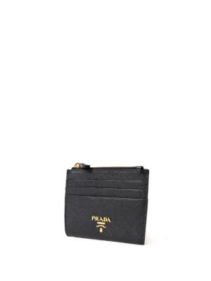 Prada: wallets & purses online - Saffiano leather card case