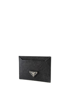 Prada: wallets & purses online - Saffiano leather card holder