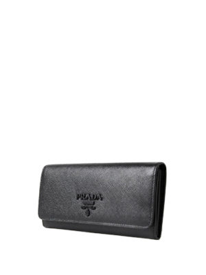 Prada: wallets & purses online - Saffiano leather continental wallet