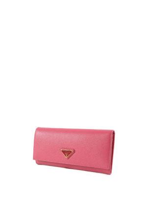 Prada: wallets & purses online - Saffiano leather flap wallet