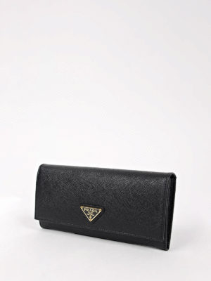Prada: wallets & purses online - Saffiano leather flap wallet