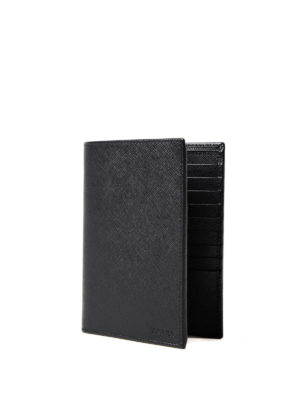 Prada: wallets & purses online - Saffiano vertical bifold wallet