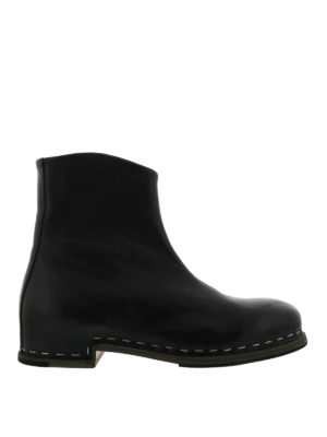 Premiata: ankle boots - Black leather ankle boots