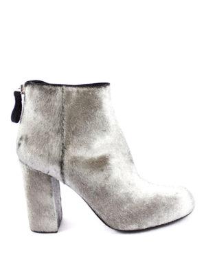 Premiata: ankle boots - Kebir metallic haircalf booties