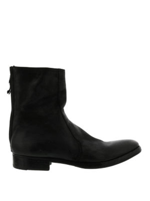 Premiata: ankle boots - Leather booties