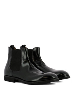 Premiata: ankle boots online - Flare brushed leather ankle boots
