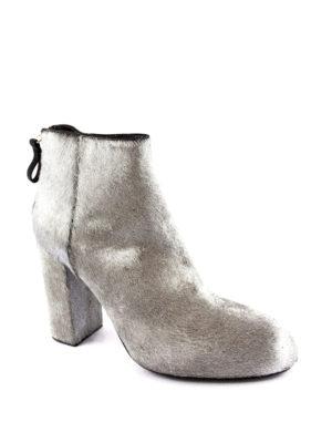 Premiata: ankle boots online - Kebir metallic haircalf booties