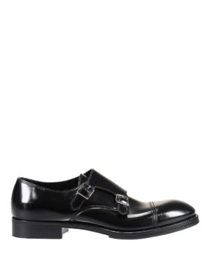 Premiata: classic shoes - Glossy leather Amras monk strap