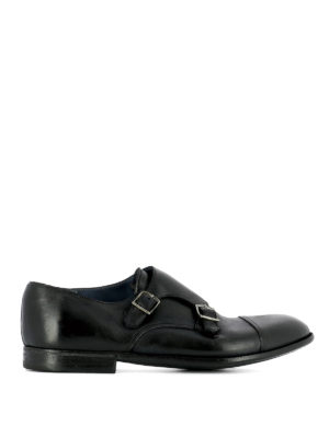 Premiata: classic shoes - Glossy leather monk strap
