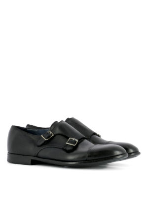 Premiata: classic shoes online - Glossy leather monk strap