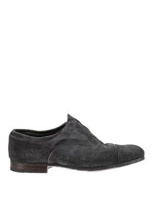 Premiata: classic shoes - Ox washed suede slip-on derby