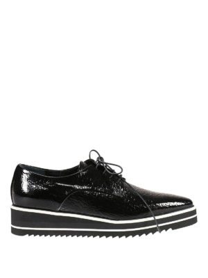 Premiata: lace-ups shoes - Andy wrinkled patent leather shoes