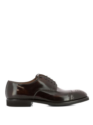Premiata: lace-ups shoes - Brushed leather brogues shoes