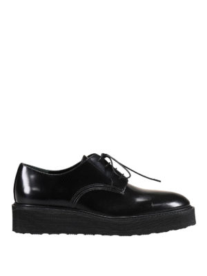 Premiata: lace-ups shoes - Gaia glossy leather derby shoes