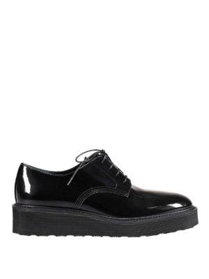 Premiata: lace-ups shoes - Gaia patent leather derby shoes