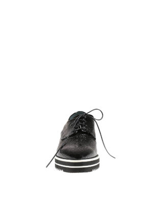 Premiata: lace-ups shoes online - Andy wrinkled patent leather shoes