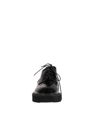 Premiata: lace-ups shoes online - Gaia patent leather derby shoes