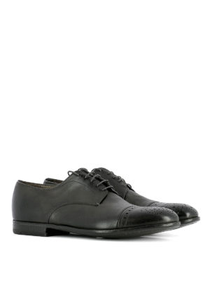 Premiata: lace-ups shoes online - Used effect leather brogues