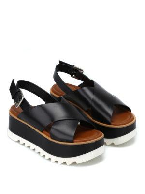 PREMIATA: sandali online - Sandali Vox neri con plateau