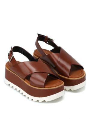 PREMIATA: sandali online - Sandali Vox con plateau color cuoio