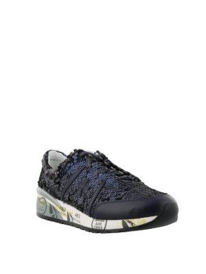 PREMIATA: sneakers online - Sneaker Ann in paillettes blu