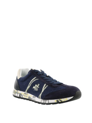 PREMIATA: sneakers online - Sneaker blu Lucy in tecnotessuto