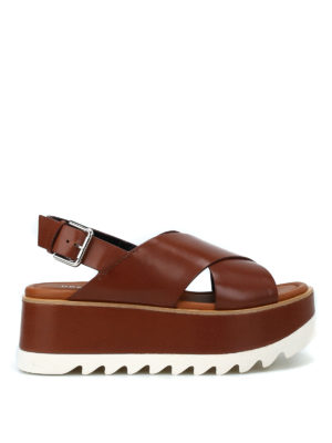 PREMIATA: sandali - Sandali Vox con plateau color cuoio