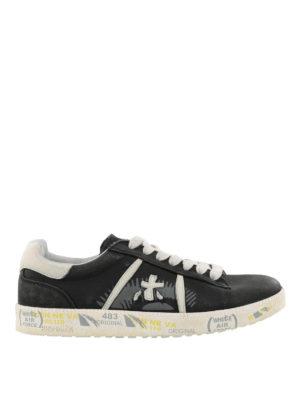 PREMIATA: sneakers - Sneaker nere Andy in pelle vintage