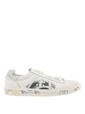 PREMIATA: sneakers - Sneaker bianche Andy in pelle