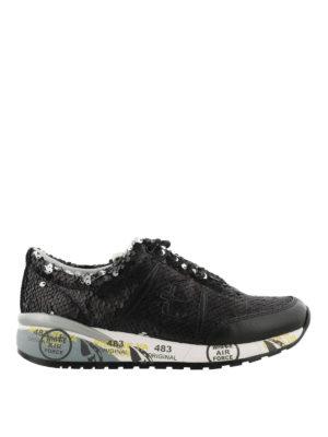 PREMIATA: sneakers - Sneaker nere Ann di paillettes