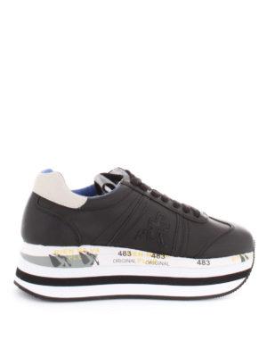 PREMIATA: sneakers - Sneaker Beth maxi suola e talloncino bianco