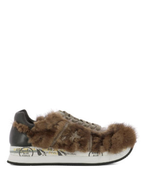 Premiata: trainers - Conny 2598 fur inserts sneakers