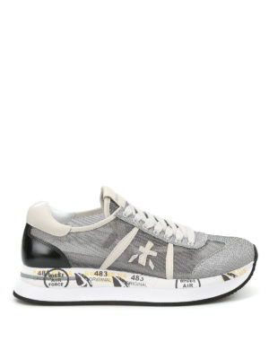 Premiata: trainers - Conny lurex mesh sneakers