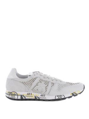 PREMIATA: sneakers - Sneaker Eric in camoscio traforato