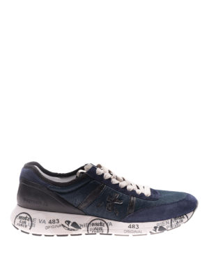 Premiata: trainers - Hanzo blue sneakers