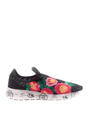 Premiata: trainers - Janei embroidered pull-on sneakers