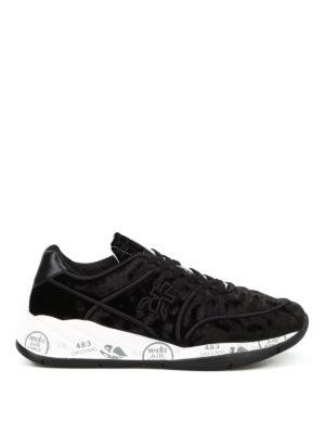 PREMIATA: sneakers - Sneaker Liu in velluto nero